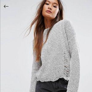 ASOS distressed sweater